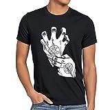 style3 Roy Mustang Alchemist Guanto T-Shirt da Uomo Fullmetal, Dimensione:M;Colore:Nero