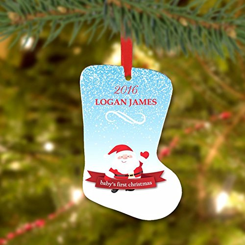 Personalisierte Direkter Custom Baby First Christmas Stocking Ornament