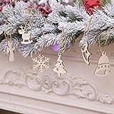 TAOtTAO Christmas Decoration 10 Stück DIY Holz Anhänger Ornamente für Weihnachtsbaum und Party Dekorationen (A)