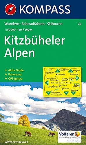 Carta escursionistica n. 29. Austria. Tirolo... Kitzbuheler Alpen 1:50.000. Con carta panoramica. Adatto a GPS. DVD-ROM digital map. Ediz. bilingue: Wandelkaart 1:50 000