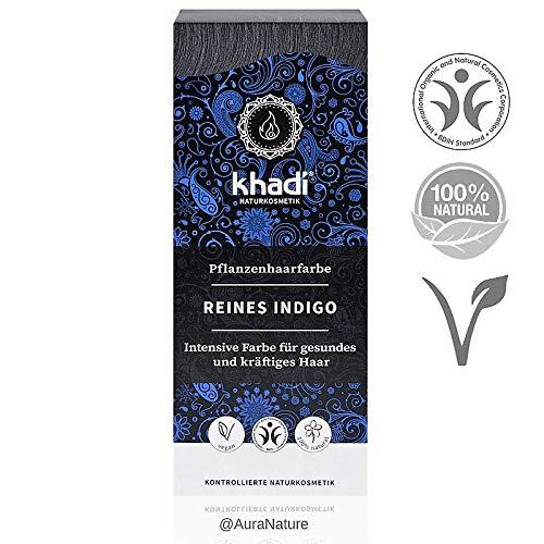 Khadi bio - colore vegetale capelli indigo puro