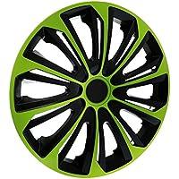 """KN27 Tapacubos 14"""" - Negro Verde - 4 piezas - 5902538509343"""