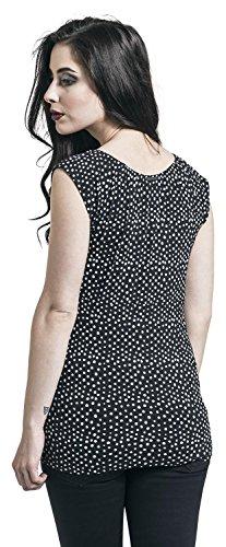 Pussy Deluxe Crumble Dotty Evie Shirt Girl-Shirt schwarz/weiß Schwarz/Weiß