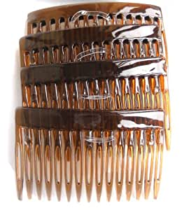 Shropshire Supplies 7cm Side Combs Hair Combs Pack of 4 - Tortoishell by Shropshire Supplies