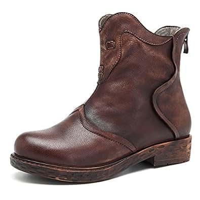 socofy damen ankle boots martin stiefel handmade oxford. Black Bedroom Furniture Sets. Home Design Ideas