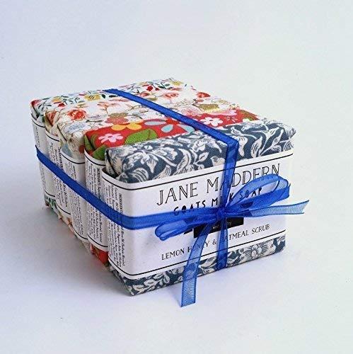 Jane Maddern Handgefertigt Ziegen Milch Seife 90g - 5ER PACK - Hergestellt in Somerset, England -
