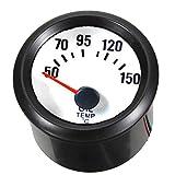 """Supmico Auto 2"""" 52mm Universale pointer Led blu Indicatore Misuratore di temperatura dell'olio 12V guscio nero"""