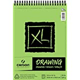 Canson XL Series Drawing Paper Pad, Micro Perforated, Smooth Surface, Top Wire Bound, 70 Pound, 9 x 12 Inch, 60 Sheets (100510936)