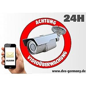 DVS Germany - Aufkleber - Schild Achtung Videoüberwachung Stückzahl - DV-A6AVI - 100