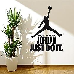 RENXIANSEN Creativo pegatinas de pared boy dormitorio dormitorio wallpaper decoración dunk baloncesto deportes estrella poster
