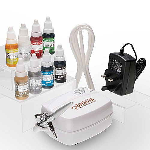 Airbrush Cake Decorating Kit | Watson & Webb Little Airbrush LA1 Including 8 Colours