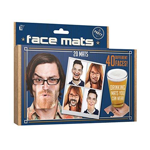 Party Untersetzer Gesicht, aus Pappe im 20-tlg. (Nase Lustige)