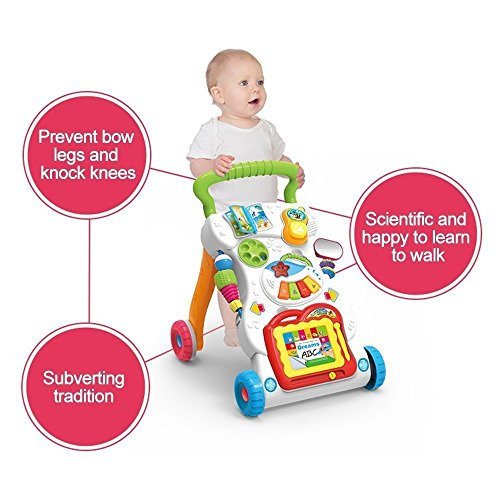 Baby Activity Sit to Stand Baby Learning Musical Anti-Skid Walker(100% Safe & Non-Toxic)