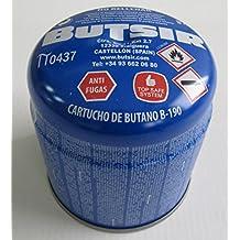 Cartucho de gas 190 gr – bombona perforable con limitador de fugas – botella camping gas