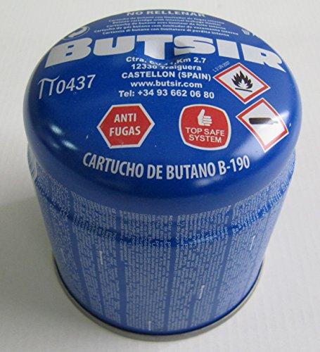 Cartucho de gas 190 gr – bombona perforable con limitador de fugas...