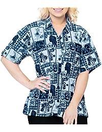 L donna Donna hawaiana Amazon it Abbigliamento camicia zqZwTS17