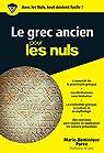 Le grec ancien pour les Nuls poche par Porée