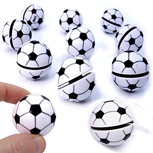 German Trendseller® - 12 x Jojo - Fußball - für Kinder ★ NEU ★ ┃ Kindergeburtstags Mix ┃ Mitgebsel ┃ 12 Stück