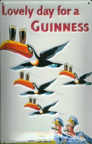 tin-sign-with-retro-guinness-lovely-day-tucan-pilot-sign-bierwerbung-birds-by-buddel-bini-versand