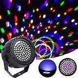 Qweidown Projektionslampe,Dekoration LED Bühnenlicht,Disco Licht,für Stage Lights 78 LED-Beleuchtung 6 Farben über IR-Fernbedienung DMX und für Party DJ KTV Wedding Christmas(Bühnenbeleuchtung)