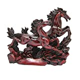 Reiki Crystal Products Vastu ,Victory Two Red Running Horses For Positive Energy Vibrations,Red