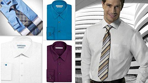 Geoffrey Beene Mens Shirt Regular Fit Cotton Rich easycare Long Sleeve