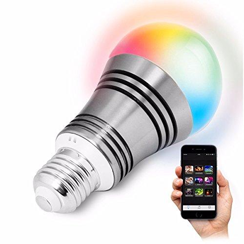 MASUNN E27 6W LED RGBW Bombilla Bluetooth WiFi Control