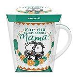 """Sheepworld 44567 Tasse mit Motivdruck """"Für die allerliebste Mama!"""", Porzellan, in PET-Geschenkbox"""