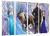 Quadro moderno fotografico Frozen, cartoni, Elsa, Olaf, Hans, 131x 62cm, rif. 26547