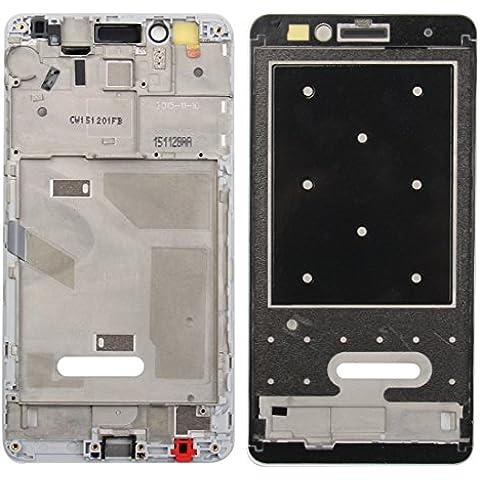 Piezas de repuesto de teléfonos móviles, iPartsBuy para el capítulo de Huawei Honor 5X LCD frontal de la carcasa del bisel de la placa ( Color : Blanco )