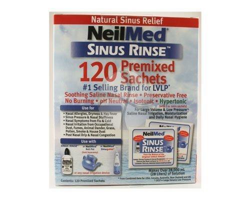 NeilMed SinuRinse 120 Refill Mixture Sachets Including P & P* by NeilMed - Neilmed Sinus Rinse Kit