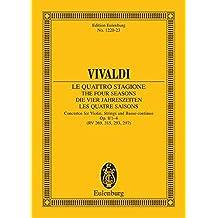 """Die vier Jahreszeiten: """"Der Frühling"""" E-Dur. op. 8/1. RV 269 / PV 241. Violine, Streicher und Basso continuo. Studienpartitur. (Eulenburg Studienpartituren)"""