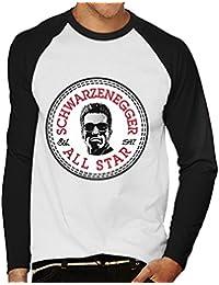 Arnold Schwarzenegger All Star Converse Logo Men's Baseball Long Sleeved T-Shirt