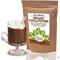 Cocoa powder, Organic vegan, pure dark chocolate ingredient, unsweetened, dairy free, ideal for baking, hot chocolate drinks and smoothies - 500g - By Nutri Superfoods