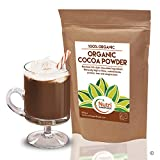 Polvo de Cacao Orgánico, chocolate negro vegano nutritivo, sin azúcar, ideal para preparar platos, batidos y barras energéticas (500g)