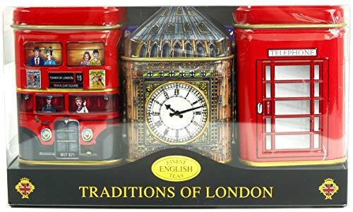British Heritage Tea-Traditions of London, English Tea in Mini-Dosen, Geschenk-Pac …