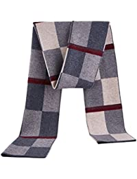 98d878f7ff87 Zhuhaitf Echarpe Longue Homme Femme hiver 180 x 30cm Winter Warm Formal  Scarf Thermal Multicolour Wool