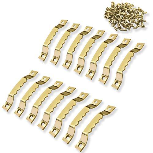 ✮MARQUE FRANCAISE✮-CZ Store®-Cintre photo|Lot de 100+200 vis inclus|✮✮GARANTIE A VIE✮✮-Photo crochet en metal dorée solide et durable-crochet pour cadre/photo/toile/peinture/horloge/diplôme.