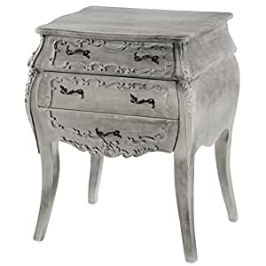 commode florence armoire table d 39 appoint style baroque antique 70x58x41cm blanc shabby chic. Black Bedroom Furniture Sets. Home Design Ideas