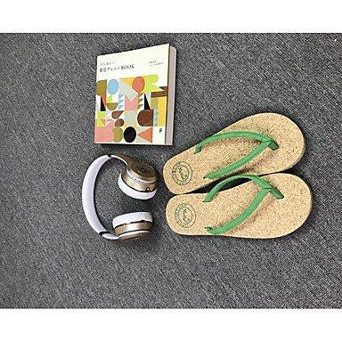 Slippers & amp da uomo;Luce Estate Soles bovina casuale sandali nero verde sandali 37