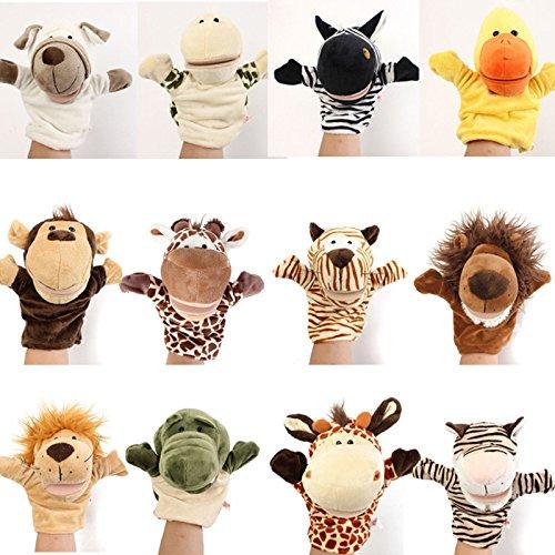 Bazaar Mignon Tier-Comic Handpuppen Handschuhe Kinder Puppe mit Meerestier, der Hand Finger Velours Spielzeug Geschichte Sprechender Plüsch sagen (Sprechende Handpuppe)