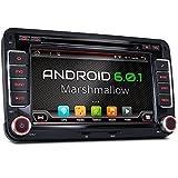 XM-2DA702 Autoradio passend für VW SEAT SKODA I mit Android 6.0.1 I mit GPS Navigation Bluetooth I Support: WiFi DAB+ OBD2 I 7