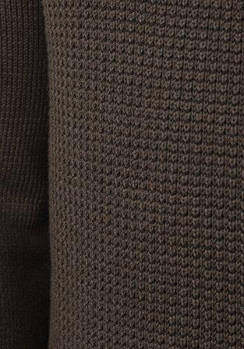SOLID Tommy Herren Strickpullover Feinstrick Troyer Pulli mit Stehkragen aus hochwertiger Baumwollmischung Meliert Coffee Bean Melange (5973M)