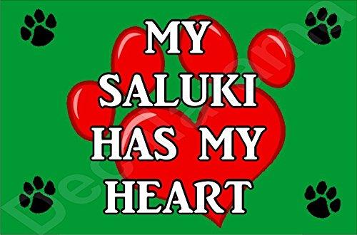 My Saluki Hat My Heart Hund Puppy Kühlschrankmagnet Geschenk/Geschenk Saluki Hat