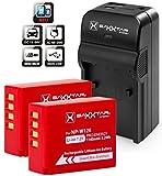 2x Baxxtar PRO Energy Akku für Fujifilm NP-W126 NP-W126s mit Infochip (echte 1140mAh) 5in1 Ladegerät Razer 600 II mit MicroUSB Eingang/USB-Ausgang zum Laden von Drittgeräten (Smartphones.)