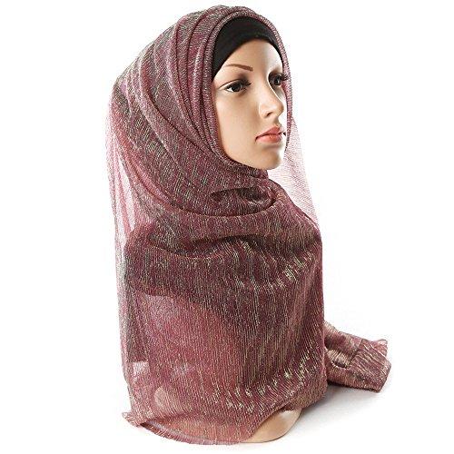 WINWINTOM Schal Super Weichen Islam Muslim Einfarbig Damenschal Frauen Mädchen Scarves Frauen Blase...