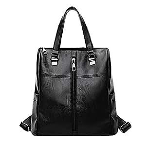 ❤️ Women Girl Backpack Sale Clearance, Xinantime Ladies Vintage Satchel Travel Shoulder Bag Leather School Bag Backpack (🐳 28cm*15cm*28cm, Black)