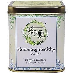 The Indian Chai - Slimming Healthy Green Tea, 20 Nylon Tea Bags, Whole Leaf Tea, Weight Loss Tea, Detox Tea, Herbal Tea