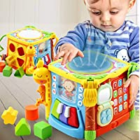 WISHTIME Baby Activity Musical Educational Toy Activity Centre Musical Cube Play & Learning Toy With Music & Light Shape Sorter For Boys and Girls Toddlers