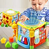WISHTIME Musical Activity Cube Baby Toy 5 in 1 Music Drum Colorful Fun